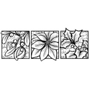 Magenta Cling Stamps Floral Holiday Trio