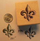 Fleur De Lis Rubber Stamp WM p34