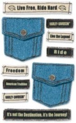 Jolee's Harley-Davidson Denim Pockets Scrapbook Stickers