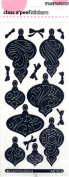 Scrollwork Ornaments Mirror Silver Class A'Peels Scrapbook Stickers