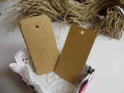 Brown Hang Gift / Wedding Tag - 78x39mm - Pack of 50pcs + strings