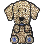 Yellow Labrador Retriever Dog - Love Your Breed Rhinestone Stickers