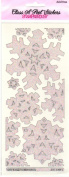 Jumbo Snowflake Clear Crystal Class A'Peels Scrapbook Stickers