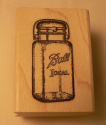 Small Ball jar vintage style rubber stamp