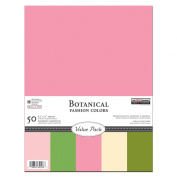 The Paper Company, P62548, Botanical Cardstock Value Pack, 8-1/2 by 11