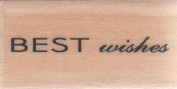 Best Wishes San Script Wood Mounted Rubber Stamp