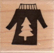Christmas Sweater Wood Mounted Rubber Stamp