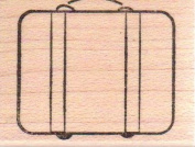 Suitcase Wood Mounted Rubber Stamp