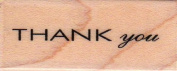Thank You Sans Script Wood Mounted Rubber Stamp