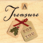 A Treasure For You Wood Mounted Rubber Stamp