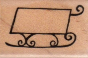 Whimsical Sled Wood Mounted Rubber Stamp