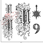 Something Tattered N Initial Monogram Clear Stamps, 10cm by 10cm