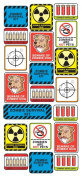 Sticko Decorative Stickers, Zombie Survival Labels