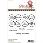 Little Darlings Rubber Stamps Birthday Sentiments Rubber Stamp