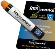 IMC Marks Weather Resistant Lead Free Industrial No. 1x Solid Stick Paint Marker, Orange