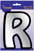 Creative Hands 8983 18E Rondo Mirrored Foam Adhesive Sticker, Monogrammed R