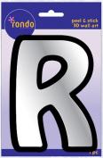 Creative Hands 8983 18E Rondo Mirrored Foam Adhesive Sticker, Monogrammed R