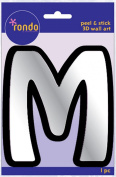 Creative Hands 8983 13E Rondo Mirrored Foam Adhesive Sticker, Monogrammed M