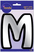 Creative Hands 8983 13E Rondo Mirrored Foam Adhesive Sticker, Monogrammed M