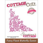 CottageCutz Elites Die 7.6cm x 7.9cm -Fancy Floral Butterfly Corner