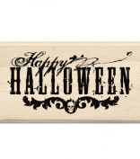 Inkadinkado Wood Mounted Rubber Stamp LL, Happy Halloween