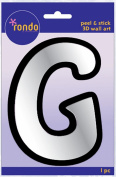 Creative Hands 8983 07E Rondo Mirrored Foam Adhesive Sticker, Monogrammed G