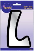 Creative Hands 8983 12E Rondo Mirrored Foam Adhesive Sticker, Monogrammed L