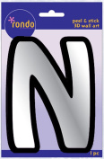 Creative Hands 8983 14E Rondo Mirrored Foam Adhesive Sticker, Monogrammed N