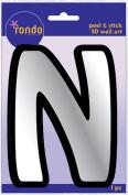 Creative Hands 8983 14E Rondo Mirrored Foam Adhesive Sticker, Monogrammed N