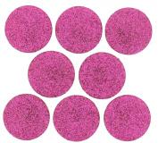 Dress It Up 4404 Big Glitter Dots Scrapbooking Embellishment, Fuchsia
