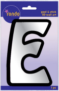 Creative Hands 8983 05E Rondo Mirrored Foam Adhesive Sticker, Monogrammed E