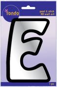 Creative Hands 8983 05E Rondo Mirrored Foam Adhesive Sticker, Monogrammed E