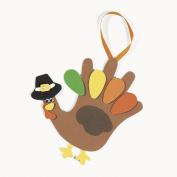 Lot of 12 Foam Handprint Turkey Craft Kit Thanksgiving Kids School Activity