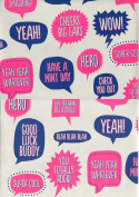 Pop Sayings Rolled Gift Wrap