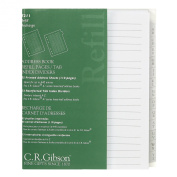 C.R. Gibson Address Book Refill Pages With Tab Index Dividers