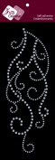 Zva Creative CRB-06CA-127 Crystal Sticker, Clear Flourish