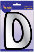 Creative Hands 8983 04E Rondo Mirrored Foam Adhesive Sticker, Monogrammed D