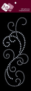Zva Creative CRB-06CA-115 Crystal Sticker, Clear Flourish