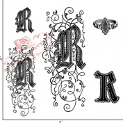 Something Tattered R Initial Monogram Clear Stamps, 10cm by 10cm