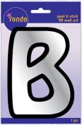 Creative Hands 8983 02E Rondo Mirrored Foam Adhesive Sticker, Monogrammed B