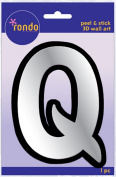 Creative Hands 8983 17E Rondo Mirrored Foam Adhesive Sticker, Monogrammed Q