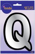 Creative Hands 8983 17E Rondo Mirrored Foam Adhesive Sticker, Monogrammed Q
