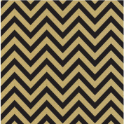 Printed Single-Sided Cardstock 30cm x 30cm -Black & Kraft Chevron 15 per pack