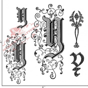 Something Tattered Y Initial Monogram Clear Stamps, 10cm by 10cm