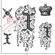Something Tattered Clear Stamps, 10cm by 10cm , Monogram Initial X