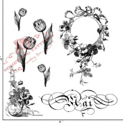 Something Tattered May Mai French Month Clear Stamps, 10cm by 10cm