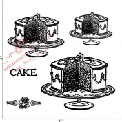Something Tattered Cake Clear Stamps, 10cm by 10cm
