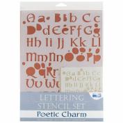 Lettering Stencil 4 Piece Sets-Poetic Charm