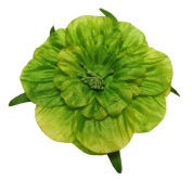 Cuteque International 6-Pack Lime Soft Silk Cosmo Flower with Yellow Peep Centre, 7.6cm