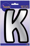 Creative Hands 8983 11E Rondo Mirrored Foam Adhesive Sticker, Monogrammed K